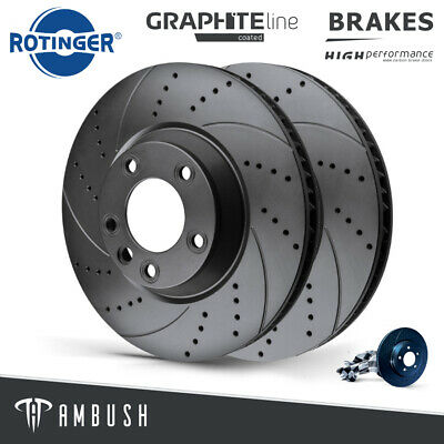 FRONT DIMPLED GROOVED BRAKE DISCS FOR AUDI A4 S4 4.2 B6 QUATTRO 2003-2008 345mm