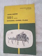 Vintage Original John Deere 100i112i114i Integral Chisel Plow Operators Manual