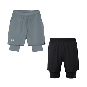 NWT-Under-Armour-Run-Men-Sz-L-Launch-2-in-1-Running-Crossfit-Shorts-Compression