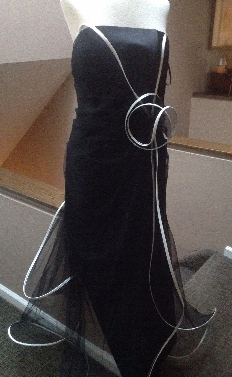 Suzanne Ermann Couture Paris Long Strapless Blk Evening Gown-MOB~ Orig Ret