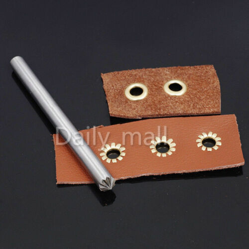 Leather Craft Chrysanthemum Gas Hole Eyelets Flowering Hole Puncher Tool 4-15mm