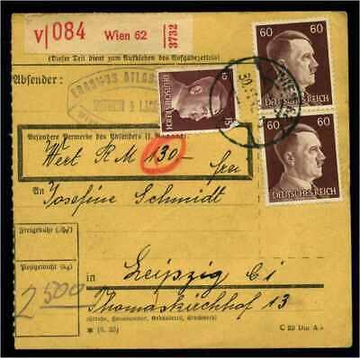 114658 Briefe & Kartenposten Paketkarte 1943 Wien Siehe Beschreibung
