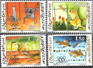 Liechtenstein-1241-1244-kompl-Ausg-gestempelt-2000-Olympische-Sommerspiele