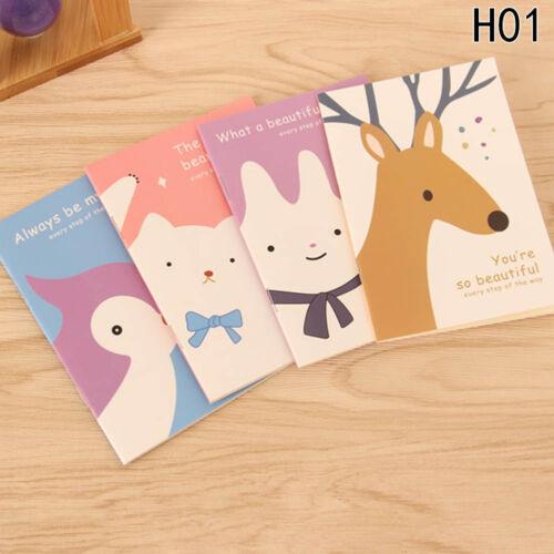 4pcs Mini Cute Journal Tagebuch Notebook Liniertes Papier Notizblock Kinde Neu