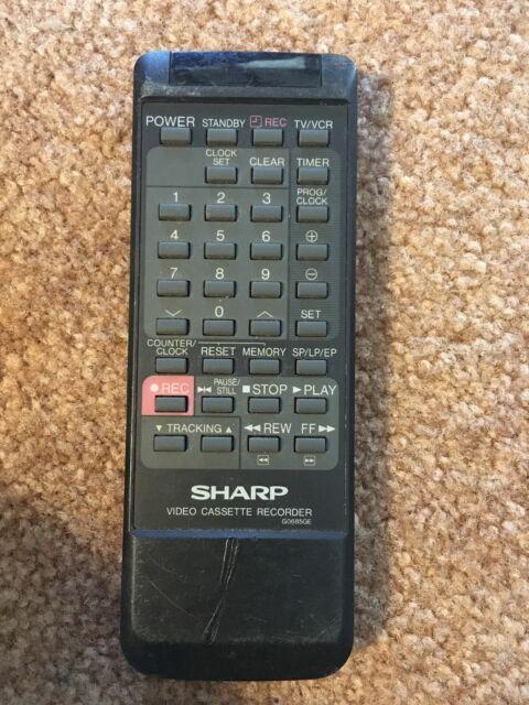 SHARP G0056AJ VCR REMOTE CONTROL