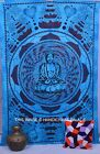 Lord Buddha Indian Wall Hanging Cotton Tapestry Blue Bedspread Home Decor Throw