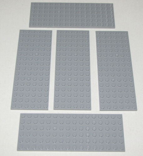 LEGO LOT OF 5 NEW LIGHT BLUISH GREY 6 X 16 DOT PLATES PLATFORMS PIECES