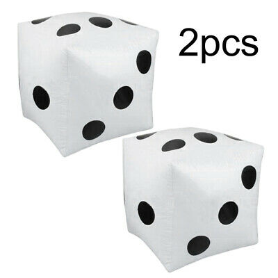 2x Inflatable Dice Cube Props Toy Games For Kids Children  Birthday Pool Party