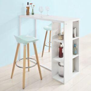 Sobuy table haute de bar mange debout cuisine avec 3 - Table de cuisine haute avec tabouret ...