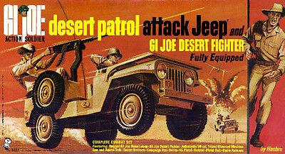 1967 GI Joe Desert Patrol Attack Jeep Box Art Giclee Print Rat Patrol HASBRO