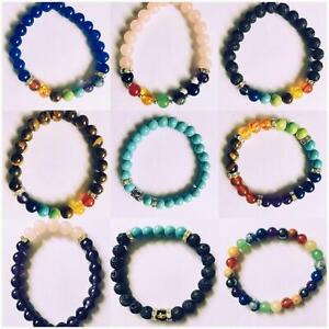 7 Chakra Gemstone Bracelet Crystal Jewellery Healing Stones Reiki Yoga bracelet