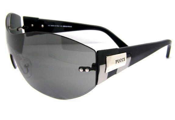 Emilio Pucci Luxury Sunglasses EP501 001 Black Wraparound Accessory New