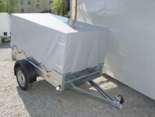 PKW Anhänger 750 kg, Ladefläche 2,06 x 1,1 m, Hochplane Planenaufbau ca. 90 cm