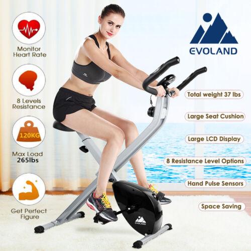 LCD Fitnessbike Heimtrainer Hometrainer Cardio Ergometer Trimmrad Heimtrainer DE