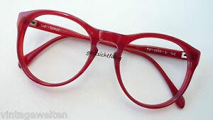 Kuhlmey-knallrote-Brillenfassung-Pantoform-Vintage-Brillen-52-20-Groesse-M