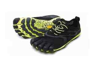 VIBRAM Five Fingers V-Run Men/'s Vibram Shoe 16M3101 Black//Yellow NEW