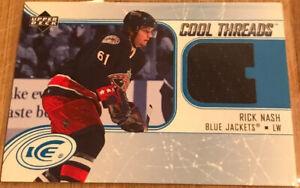 2005-06-Upper-Deck-Ice-Cool-Threads-Rick-Nash-CT-RN-Columbus-Blue-Jackets