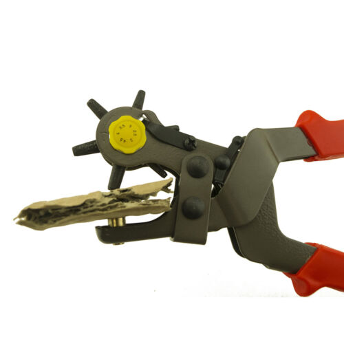 Leather Hole Puncher Hand Pliers 6 Rotating Sized Puncher Tool Belt Holes