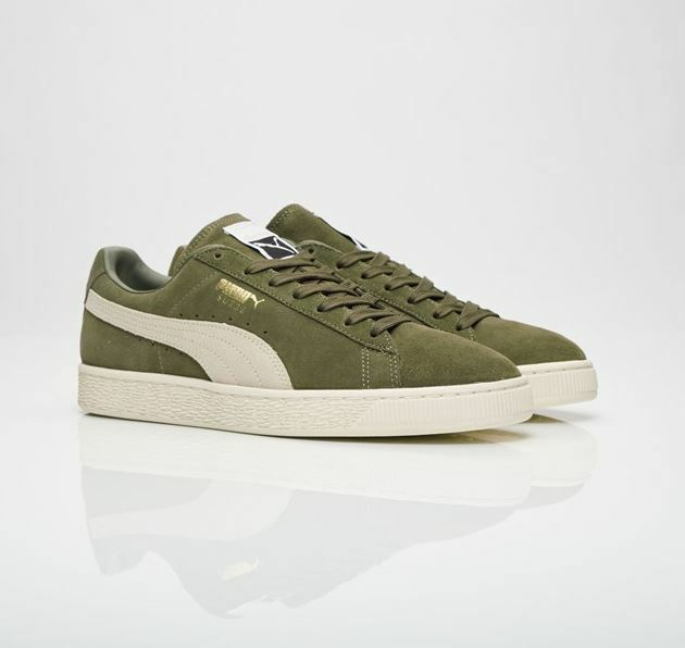 PUMA SNEAKERS Suede Olive Green 363242