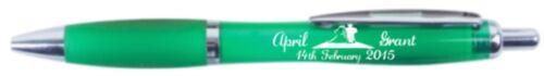 Printed Persnolised Pens 50//100//150//200  Wedding favor Pens Wedding favour pens