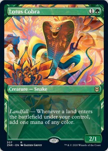 Lotus Cobra Showcase FOIL MTG Zendikar Rising Mythic Card Magic