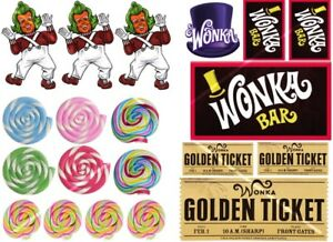 Detalles De Willy Wonka Pastel Decoración Set Comestible Glaseado Cake Topper Ver Título Original