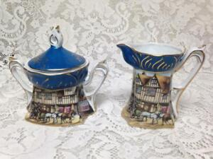 Vintage Rare, Set of RS Prussia Creamer and Sugar