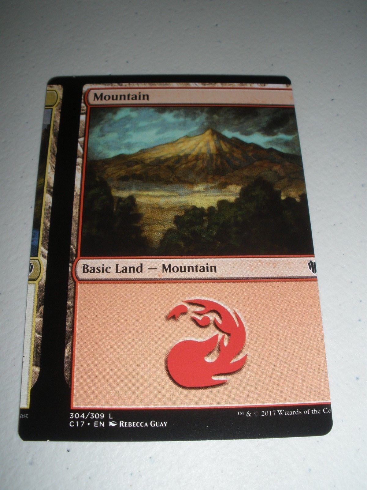MTG Magic Commander Miscut Misprint Mountain x1 NM
