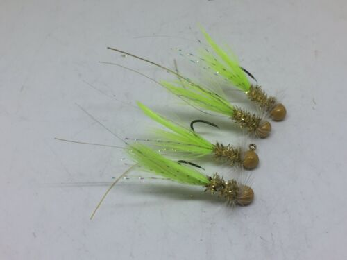 Trout and Bass Gills #GGC-132 Crappie 4 pack of hand tied 1//32 jigs