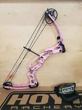 2016 Hoyt Ruckus Left Hand realtree pink camo youth compound bow. Archery kids