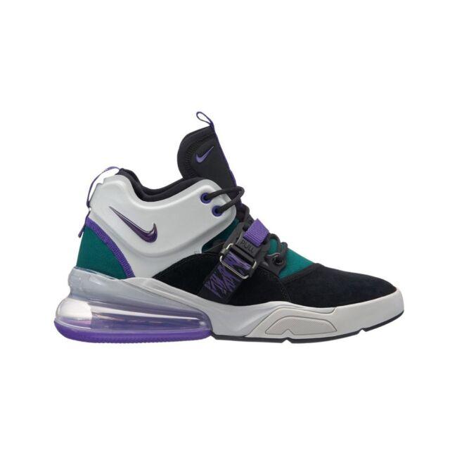 11804f171d Nike Air Force 270 Carnivore Mens Ah6772-005 Black Purple Teal Shoes ...