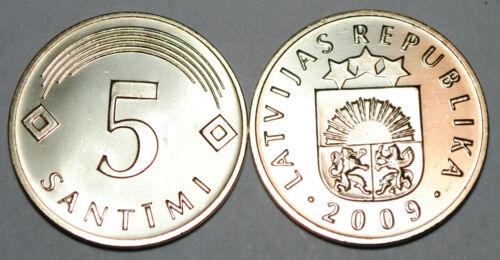Latvia 2009 5 Santimi Coin BU Very Nice KM# 16