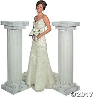 Marble-look Fluted Columns 4 1/2 Ft. Wedding Party Decoration Celebration