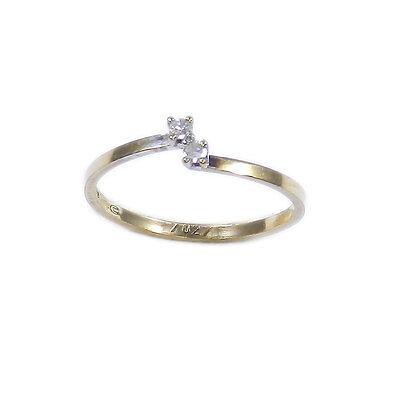Feiner 333 Gold Diamant Ring mit 0,04 ct Brillanten Vorsteckring Verlobungsring