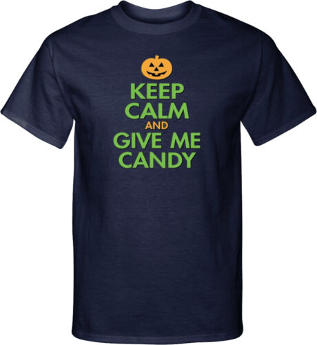 Mens Halloween Keep Calm Give Me Candy Tall T-Shirt
