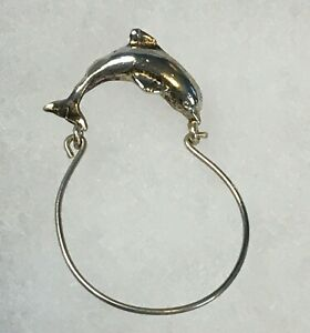 Sterling-Silver-Dolphin-Charm-Holder-Pendant