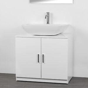 Copricolonna bagno Bianco con 2 ante mobile sotto lavabo economico ...