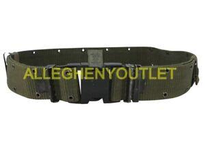 Individual Equipment Pistol / Web Belt - OD Green - Large - US Military LC2 VGC