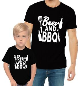 BBQ & Beer With Grill Barbecue Adults Man & Women & Kid & Boy & Girl Tee T-Shirt