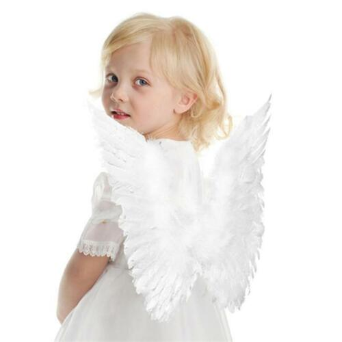 Angel Fairy Feather Wings Halo Adult Fancy Dress Costume Outfit Party DS