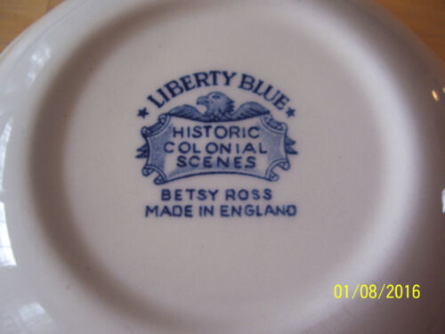 """VINTAGE STAFFORDSHIRE IRONSTONE LIBERTY BLUE 5/"""" BERRY BOWL BETSY ROSS"""