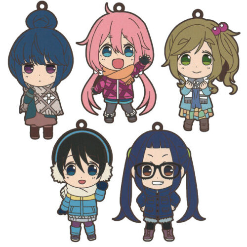 Yuru Camp Swing Mascot Rubber Keychain Strap Charm ~ Nadeshiko Kagamihara @71738
