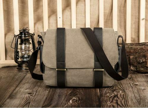 Fashion Mens Casual Crossbody Shoulder Messenger Bags Vintage Flap Laptop Bags