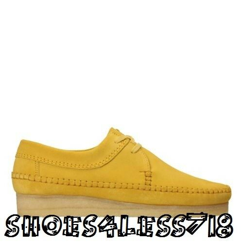 NEW CLARKS ORIGINALS Uomo WEAVER LOW LIMITED EDITION YELLOW SUEDE MOCCASSIN 31197