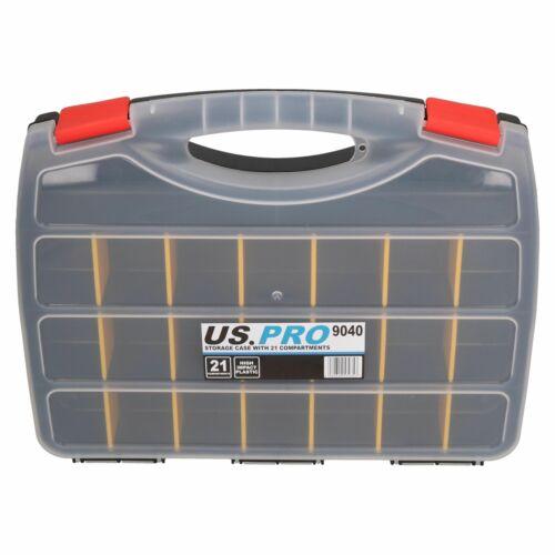 Outil boîtier de rangement avec 21 réglable Compartiments Organisateur en Plastique Étui