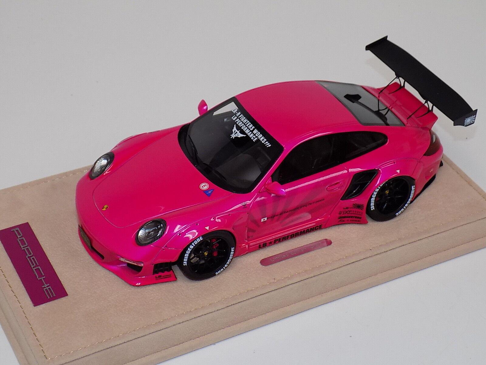 ab modelos Porsche  Liberty Walk lb rendimiento Flash calcomanías de Rosa 01A