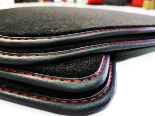 $NUOVO Tappetini per AUDI a4 b8//8k originale qualità velluto cucitura decorativa Rosso Premium
