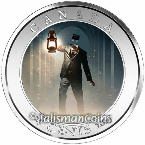 2015 Haunted Canada #2 Headless Brakeman 25 Cents Crown Size Lenticular Quarter