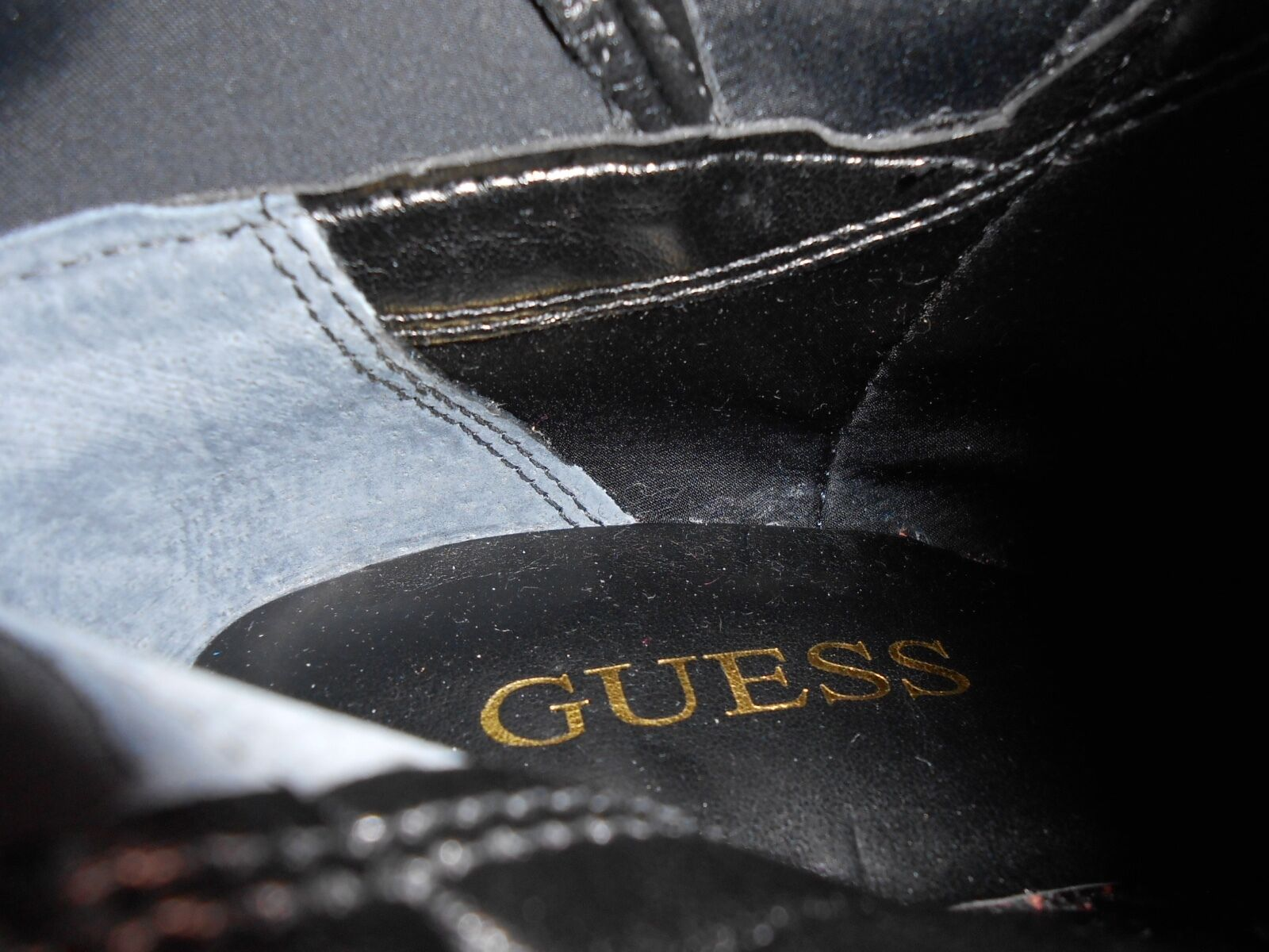 New PU GUESS schwarz over knee PU New Stiefel US6,5, UK4 13a2df