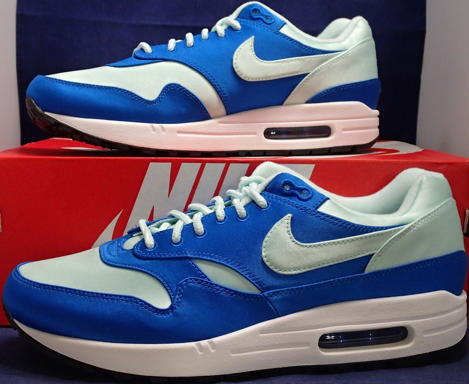 nike igloo air max 1 se satin nébuleuse bleue igloo nike blanc sz 10 (ao1021-400) c25bad